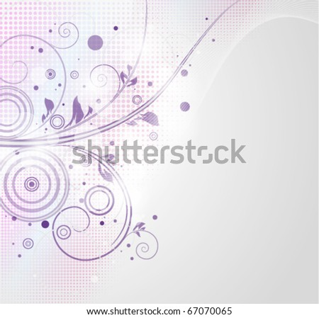 Abstract background with floral element