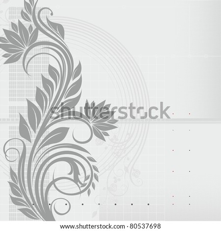 Abstract background with floral ornament