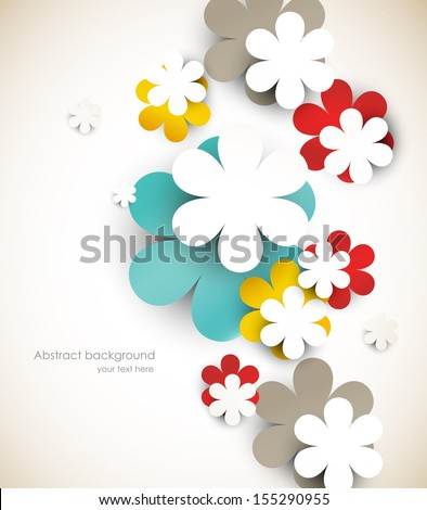 Abstract background with flowers. Bright illustration