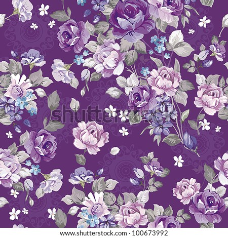 Abstract background with flowers, fashion seamless pattern. Beautiful vector illustration texture.