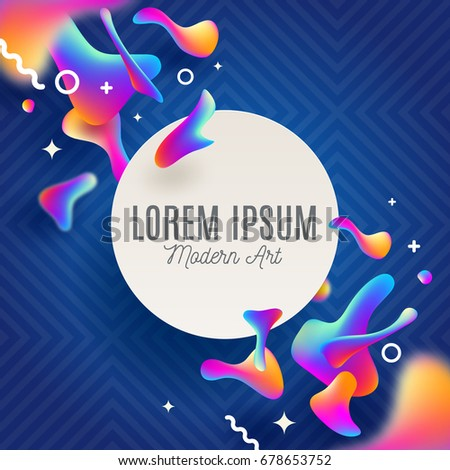 Abstract background with fluid multicolored drops. Vector design for covers, greeting card, poster or flyers.