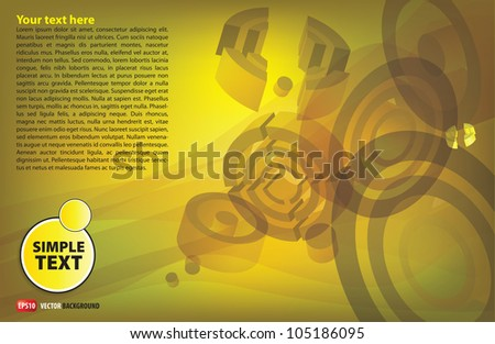 abstract background with flying rings and cylinders