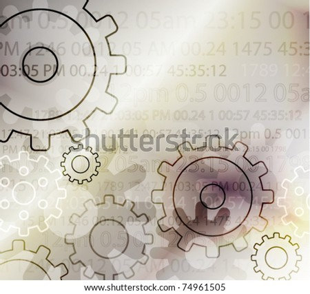 Abstract background with gears, vector illustration