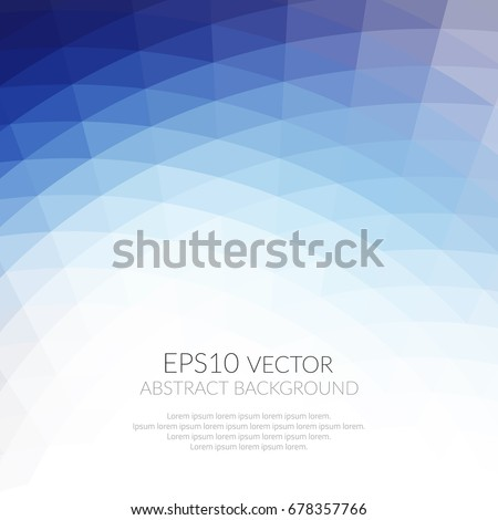 Abstract background with geometric pattern of triangles. Shades of blue. The texture of the surface and edges.
