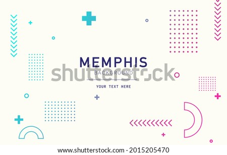 Abstract background with geometry shapes. Memphis. Modern color. Vector illustration. EPS 10