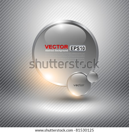 Abstract background with glass balls as vector speech bubble
