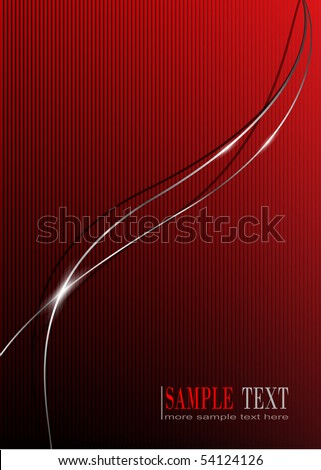 Abstract background, with glossy metallic lines, vector