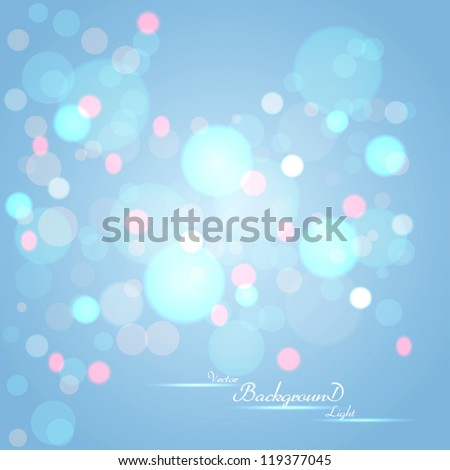 Abstract background with glowing circles. Vector