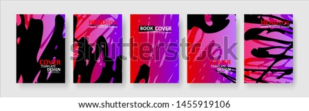 abstract background with gradient color. Applicable for design cover, presentation, invitation, flyer, annual report, poster and business card, desing packaging - Vector #1455919106