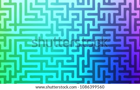 Abstract background with gradient colorful maze. Vector illustration