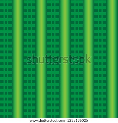Abstract background with green gradient and green lines