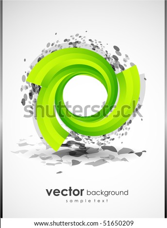 Abstract background with green shape