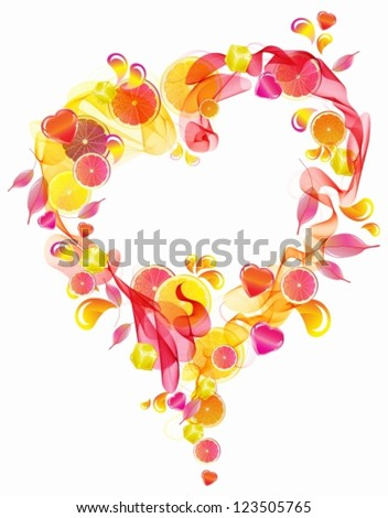Abstract background with heart, vector