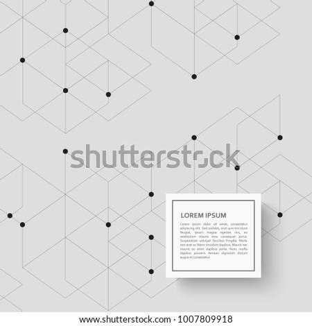 Abstract background with hexagon pattern and dots. #1007809918
