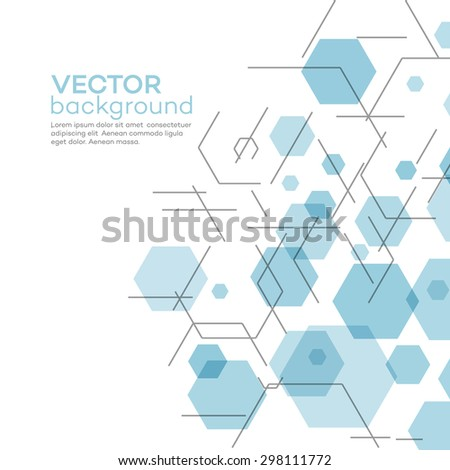 Abstract background with hexagons. Vector illustration EPS 10