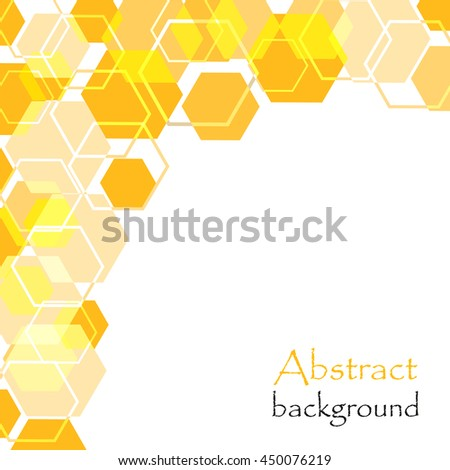 Abstract background with honeycomb