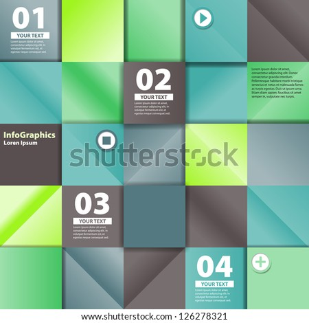 abstract background with infographics elements