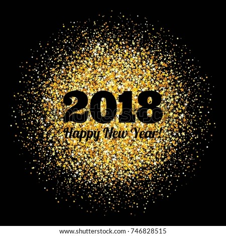 Abstract background with inscription and congratulations on new 2018 Year. #746828515