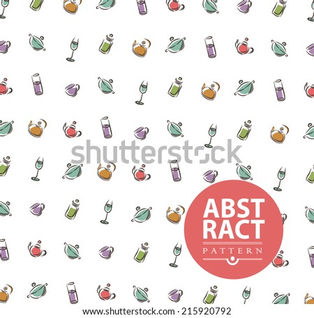 Abstract background with kitchenware for design can be used for menu, invitation, congratulation