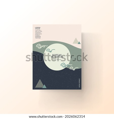 Abstract background with Korean pattern color