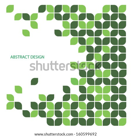 Abstract background with Leaf design