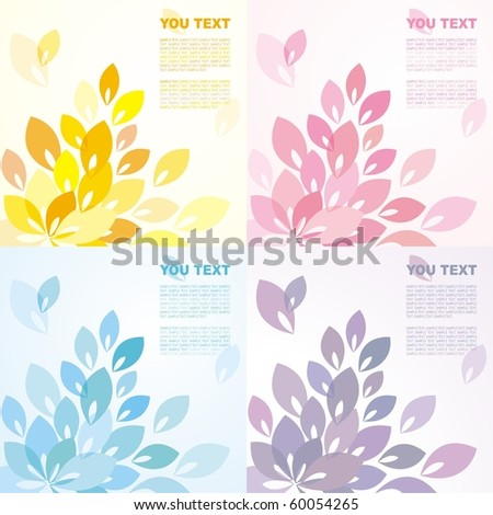 Abstract background with leaves of different colors