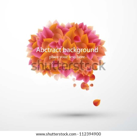 abstract background with leaves. Vector illustration