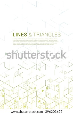 Abstract background with lines and triangles. #396203677