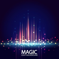 Abstract background with magic light. Vector illustration