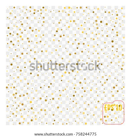 Abstract background with many falling gold classic confetti. vector background #758244775