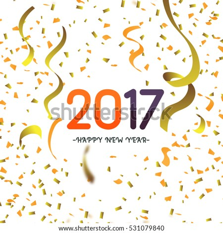 Abstract background with many falling gold tiny confetti pieces. happy new year.vector background