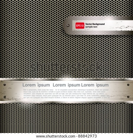 Abstract background with metall banners, vector.