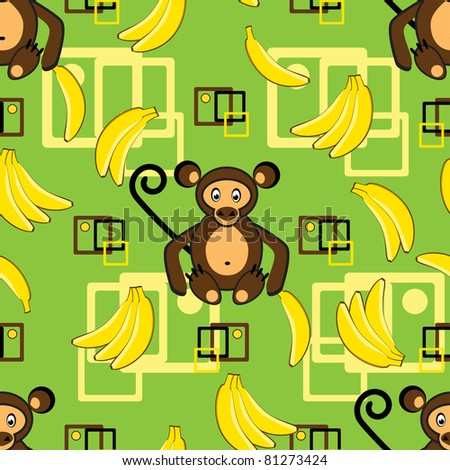 Abstract background with monkey and banana