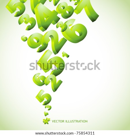 Abstract background with numbers. Vector illustration. - stock vector