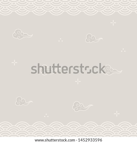 Abstract background with oriental elements