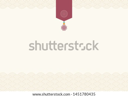 Abstract background with oriental ornaments