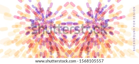 Abstract background with overlapping ovals. Salute and fireworks. Dynamic background. Vector illustration for print, textile, fabric, package, wrapping or cover.
