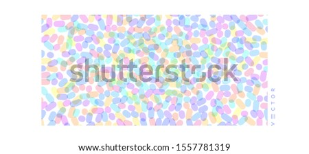 Abstract background with overlapping ovals. Vector illustration for print, textile, fabric, package, wrapping or cover.