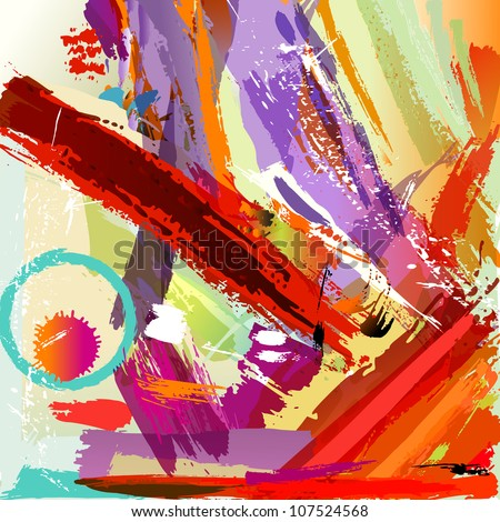 abstract background with paint strokes and splashes