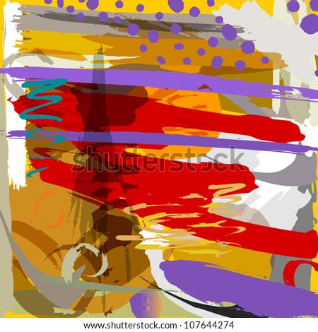 abstract background with paint strokes ans splashes