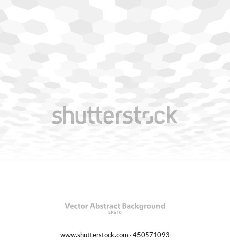 Abstract background with perspective. White and gray mosaic texture. Vector illustration - eps10. #450571093