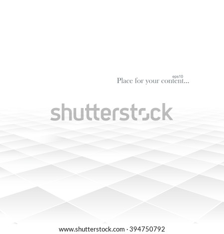 Abstract background with perspective. White geometric shapes. Vector illustration eps10.