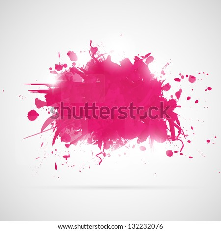 Abstract background with pink paint splashes.