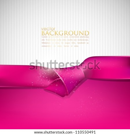 abstract background with pink ribbon