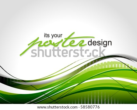Abstract background with poster design for text project used, vector illustration.