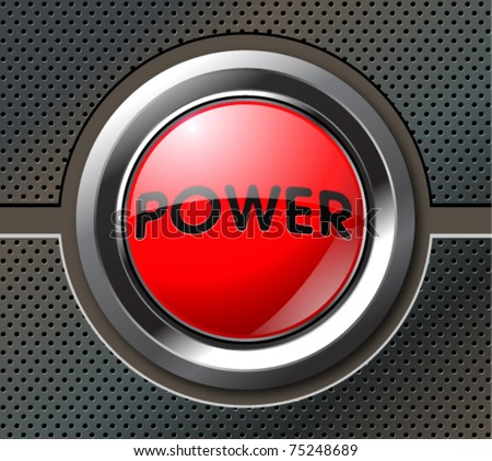 Abstract background with power button, vector illustration