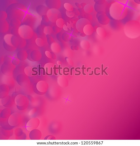 Abstract background with purple colors and bokeh lights - Vector illustration. Magenta Festive Christmas elegant abstract background