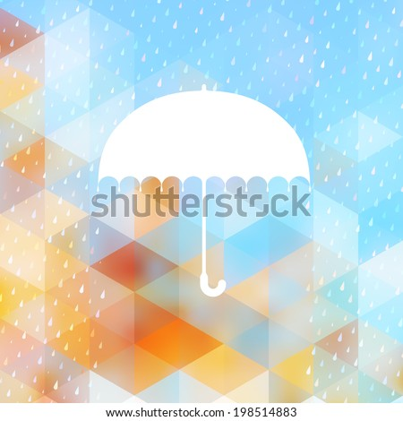 abstract background with rain