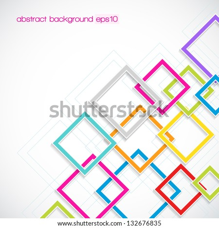 abstract background with rhombus frames