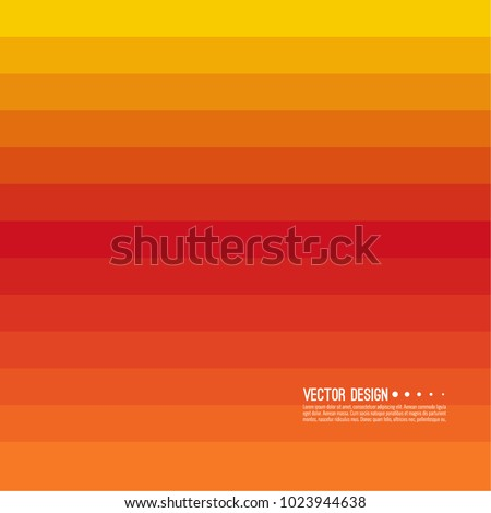 Abstract background with rhythmic rectangular horizontal stripes. Transition and gradation of color. Vector blend gradient for illustrations, covers and flyer. Color orange, yellow, red,.